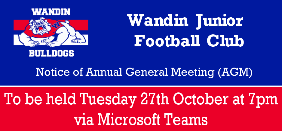Wandin JFC Annual General Meeting